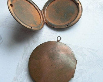 Large Vintage Copper Lockets (2X) L500