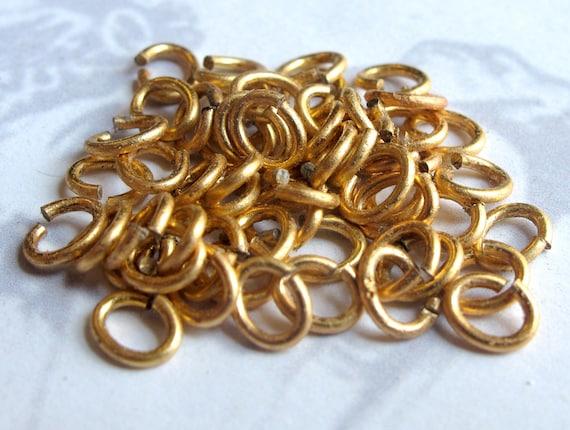 LAST Set - Raw Brass Jump Rings - 7mm x 6mm - 20 grams - (approx 250x) (F571)
