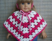 Poncho and Headband for 18 inch Doll