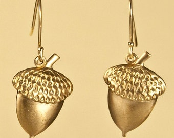 Large Vintage Acorn Earrings
