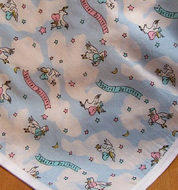 Special Delivery baby receiving blanket