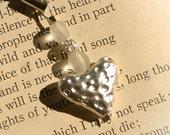 Metal Heart Cellphone charm