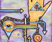Living Geometrically in a Moonless Sky - Mini ACEO Bounty