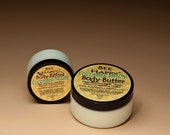 Large 9 oz Bee Happy Body Butter handmade with Shea Butter and Honey. Fresh Cucumber/Melon fragrance.  97 percent Natural product.