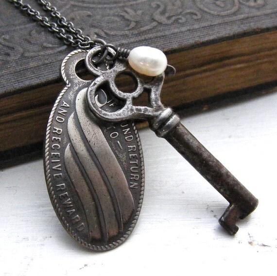 Antique Skeleton Key Necklace Return To Me
