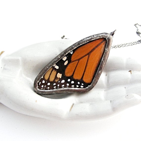 Monarch Necklace Real Butterfly Wing Jewelry
