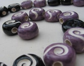 Scentual Jewelry- Aromatherapy Black Spiral Necklace