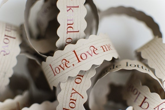 love song paper chain
