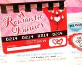 A Romantic Dinner  --  Upcycled Mini Notebook