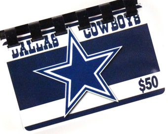 Dallas Cowboys  Blue Giftcard Notebook   ----  No Value on Card