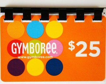 Gymboree ---   UpCycled Giftcard Notebook  --- No Value on Card