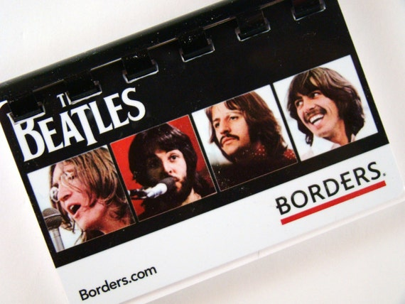 the Beatles (borders) Giftcard Notebook   ----  No value on card  -----  New Item