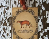 The Fox--Vintage Style Gift Tags-Featured in Country Living Magazine