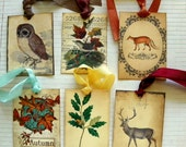 Autumn Woodland-Vintage Style Gift Tags