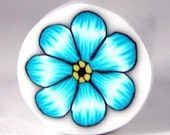 Polymer Clay Turquoise Flower Cane 176 by Seana