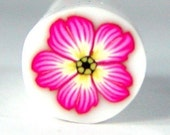 Polymer Clay Pink and Yellow Flower Cane 175 by Seana
