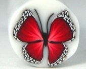 Polymer Clay Red Butterfly Cane B48 by Seana
