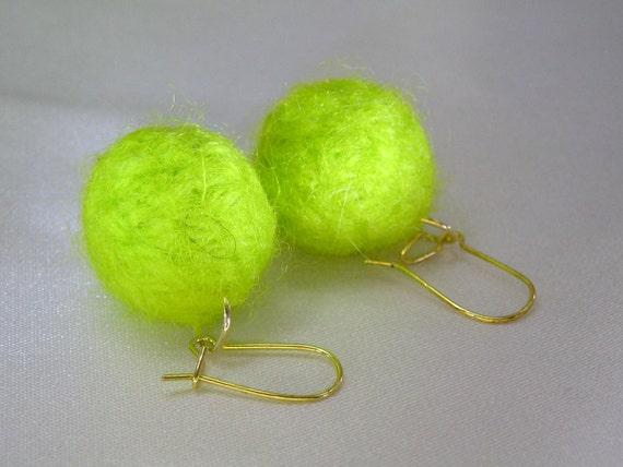 Tennis Ball Earrings