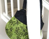 Robyn Black and Green McCloud Handbag