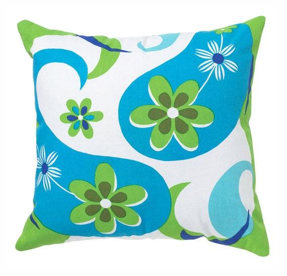 Retro Modern Paisley 18x18 Pillow Cover