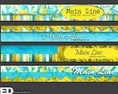 Yellow Turquoise Banner