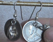Vintage Silver Coin Earrings with Sterling Silver Ear wire (Yamud & Baluchi)