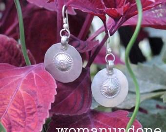 Old Baluchi Coin Silver Silver Drop Earrings