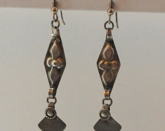 Balinese Silver Earrings with Sterling Silver Ear wires