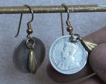 Balinese Coin Earrings (Silver & Gold)