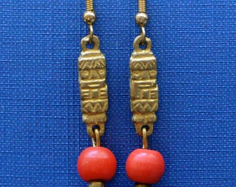 Togolese Glass Trade Bead Earrings