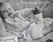 Baby Knitting Patterns Vintage Beehive for Bairns Vol 2 Vintage Paper Original NOT a PDF
