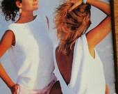 Sweater Knitting Patterns Summer Women Cotton Sahara Beehive Patons 484 Worsted Weight Yarn Paper Original NOT PDF