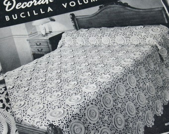 Crochet Patterns Home Bucilla 126 Vintage Paper Original NOT a PDF