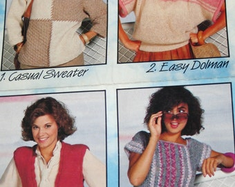 Knitting Patterns Crochet Jet Away Fashions Beehive Patons 352 Women Sweater Vest Vintage Paper Original NOT a PDF