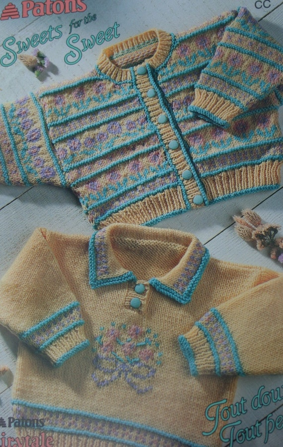 Sweater Knitting Patterns Baby Children Patons Sweets by elanknits