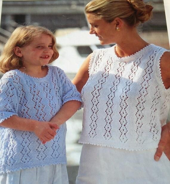 Sweater Knitting Pattern Mother Daughter Sirdar 5325