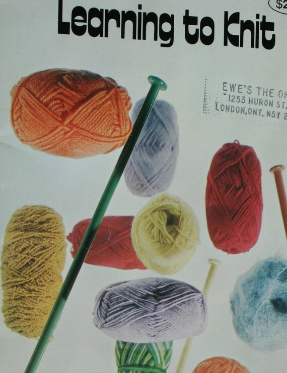 Knitting Tutorial For Beginners Pdf : Learn to knit and crochet instructions for the beginner