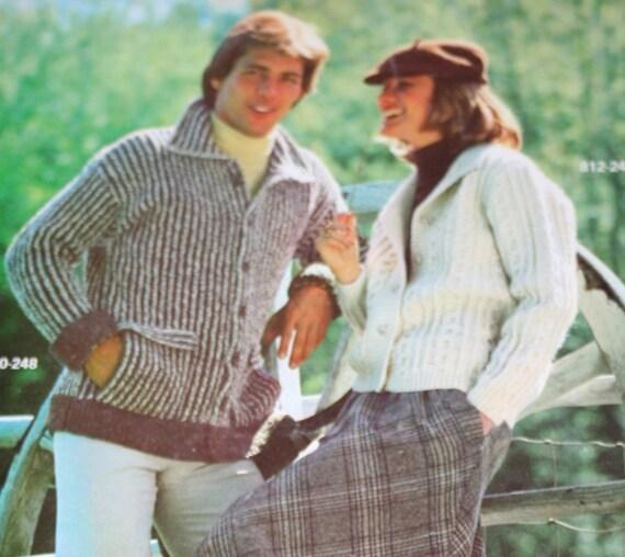 Sweater Knitting Patterns Blarney Knits Bernat 248 Men Women Vintage Paper Original NOT a PDF