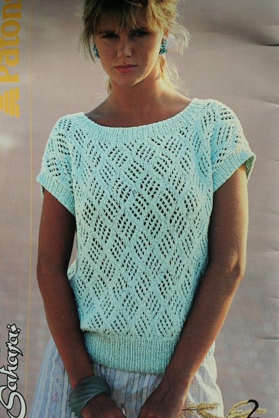 Sweater Knitting Patterns Summer Women Vintage Cotton By
