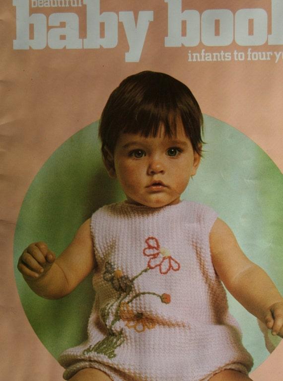 Knitting Patterns Crochet Patterns Beautiful Baby Book Columbia Minerva 766 Sweaters Cardigans Dress Skirt Vintage Paper Original NOT a PDF
