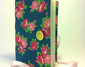 Journal notebook, journal diary, hand bound, lined paper for writing, pink turquoise, handmade books, memory book, personal journal, summer