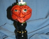 Primitive Jack o Lantern Gourd Light