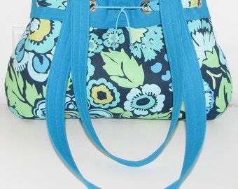Blue Flower Purse /  Handbag Handmade