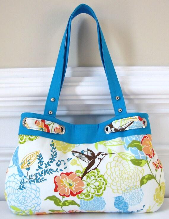 Birds of Paradise Floral Shoulder/Tote Bag