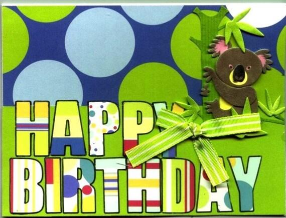 Koala Bear Happy Birthday Card