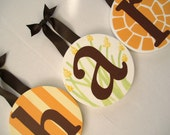 Baby Kids Nursery Round HANGING WALL LETTERS