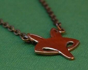 Fox Face Necklace