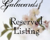Reserved order for moviemom