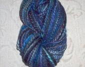 Stormy day, handspun, handyed yarn