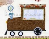 Train Travel Transportation Modern Nursery Art Print